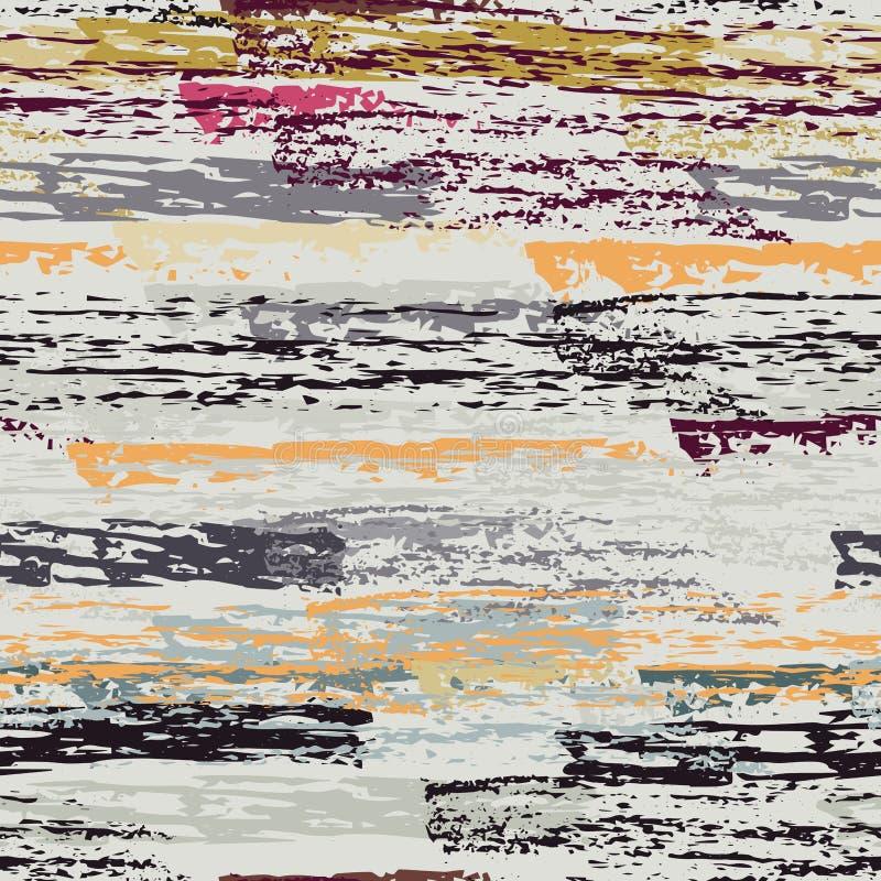Rayas apenadas La tiza texturiza superficial stock de ilustración