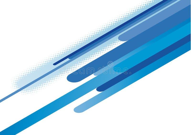 Rayas azules abstractas stock de ilustración