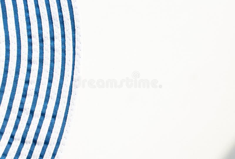 Rayas azules en un fondo blanco fotografía de archivo
