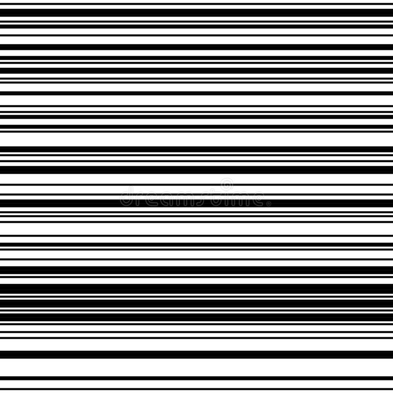 Rayas blancos y negros ilustración del vector