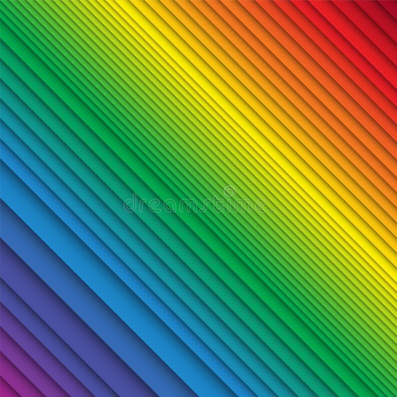 Rayas coloreadas arco iris apiladas ilustración del vector