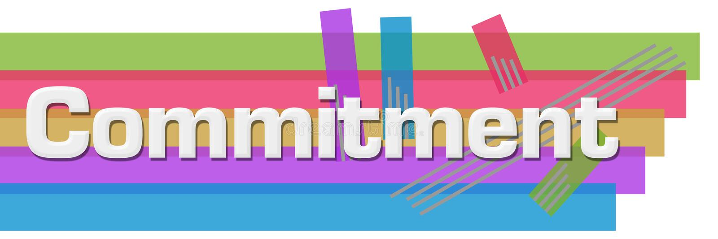 Rayas coloridas abstractas del compromiso horizontales ilustración del vector