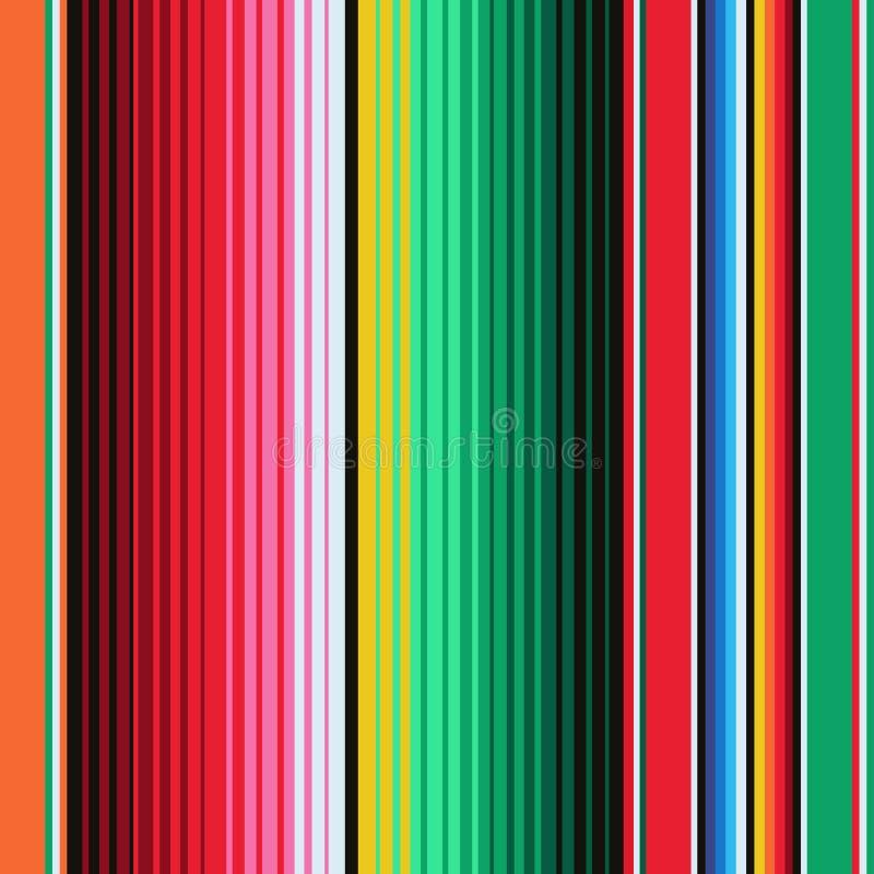 Rayas combinadas mexicanas inconsútiles stock de ilustración