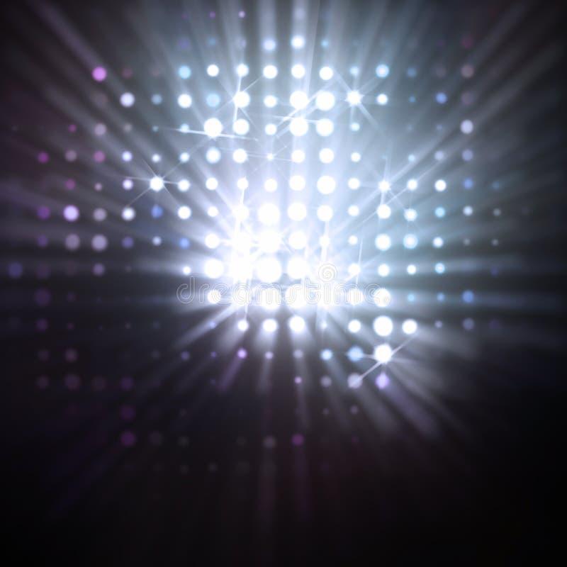 Rayas de la luz ilustración del vector