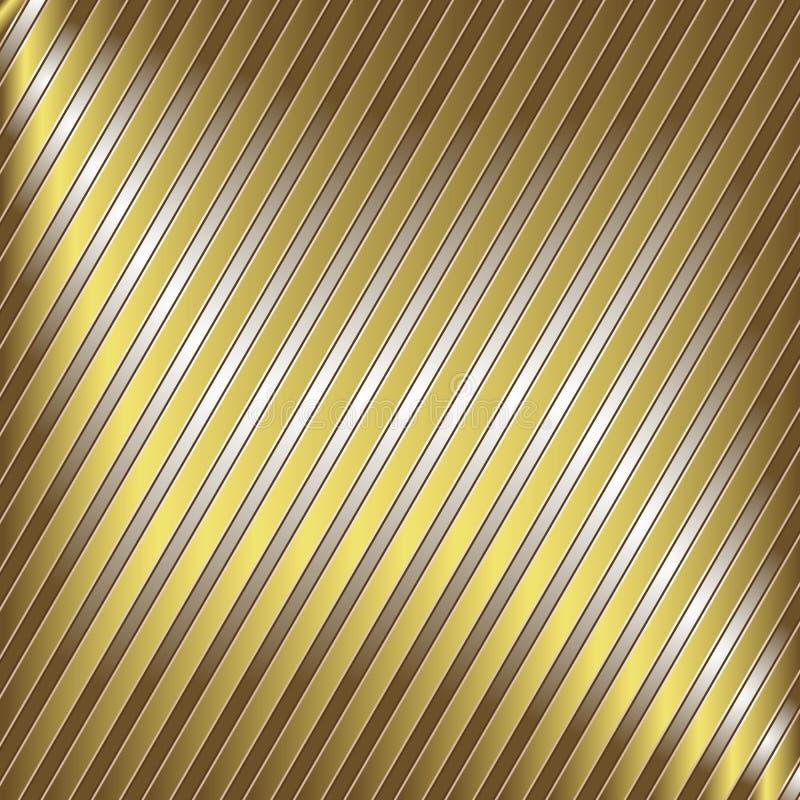 Rayas de la plata y del oro stock de ilustración