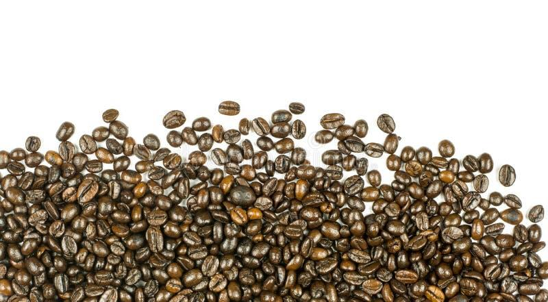 Rayas de los granos de café aisladas en el fondo blanco imagen de archivo libre de regalías