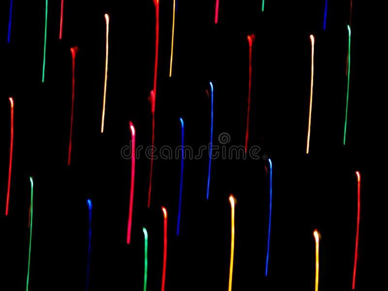 Rayas de neón del color imagenes de archivo