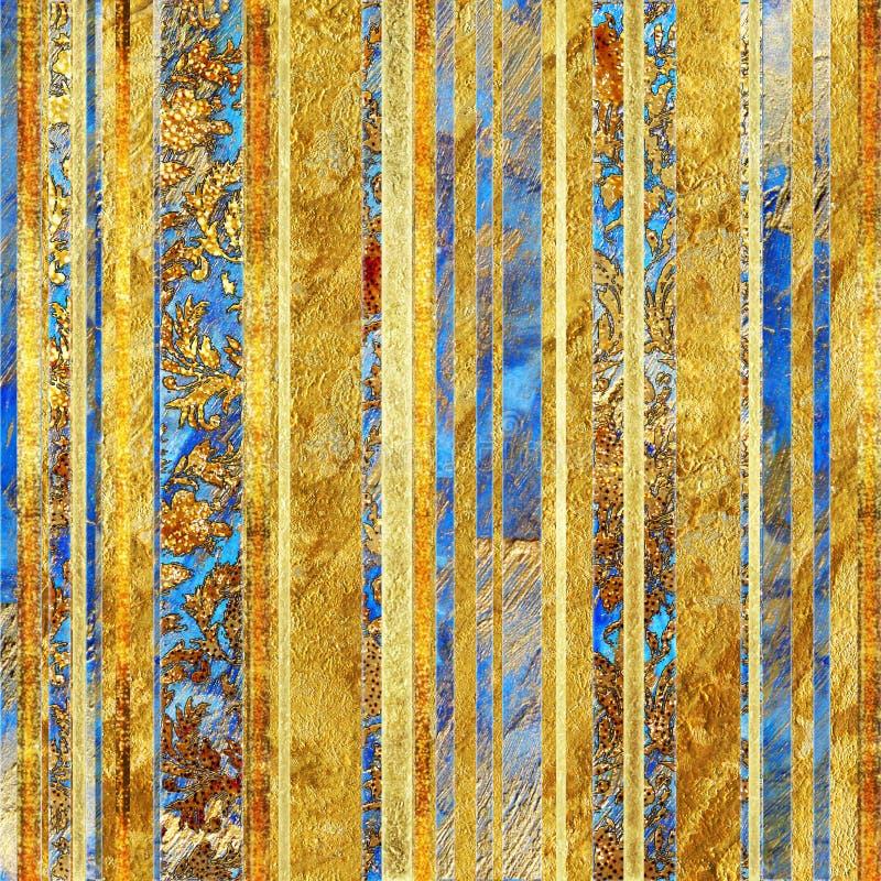 Rayas de oro stock de ilustración