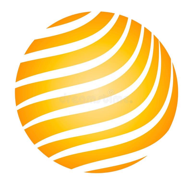 Rayas del amarillo de la bola que brillan intensamente libre illustration