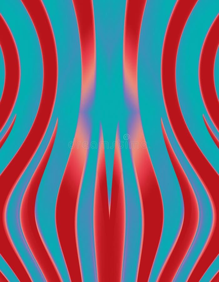 Rayas del circo ilustración del vector