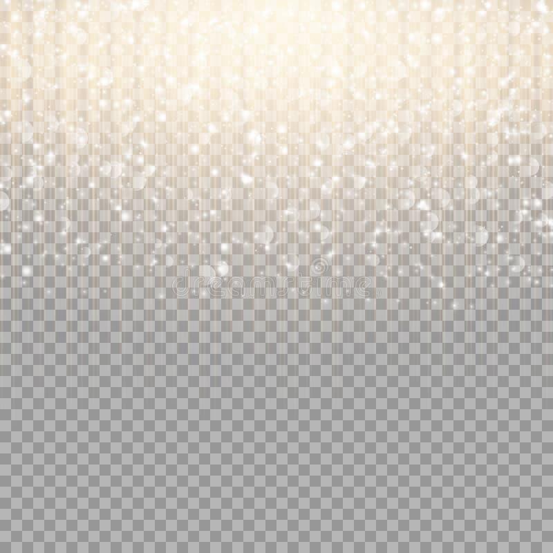 Rayas del oro con puntos culminantes stock de ilustración