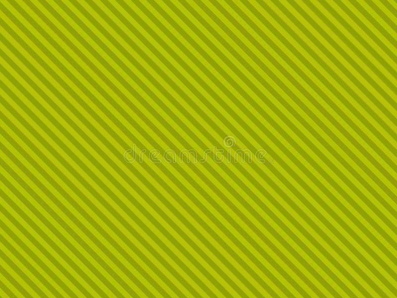 Rayas diagonales verdes ilustración del vector