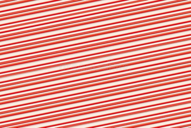 Rayas finas rojas del fondo colorido en las líneas diagonales bajas beige paralelas-serie ilustración del vector