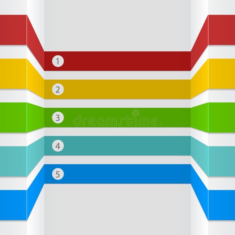 rayas infographic de la opción 3D ilustración del vector