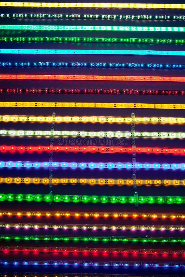 Rayas ligeras llevadas imagen de archivo libre de regalías