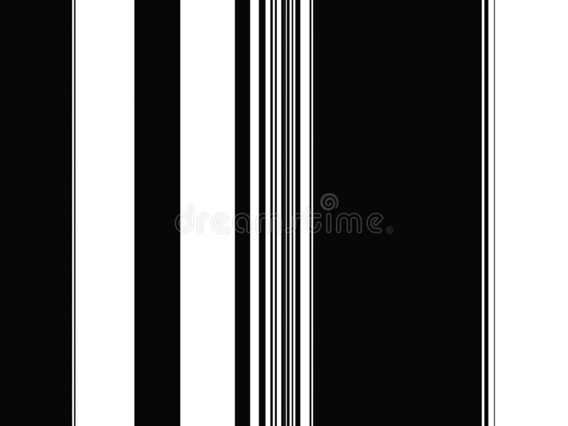 Rayas llanas blancos y negros del arte de Op. Sys. stock de ilustración
