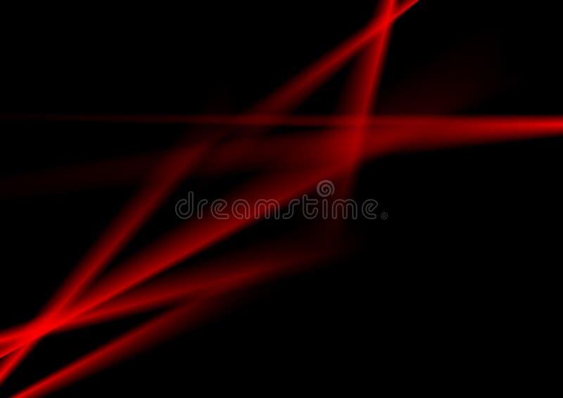 Rayas luminosas del extracto rojo oscuro del contraste ilustración del vector
