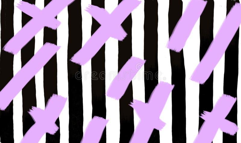 Rayas negras con las líneas violetas fondo ilustración del vector
