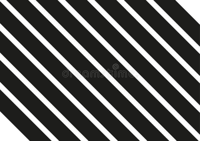 Rayas negras en el fondo blanco Ejemplo diagonal rayado del vector del modelo del fondo con las líneas inclinadas stock de ilustración