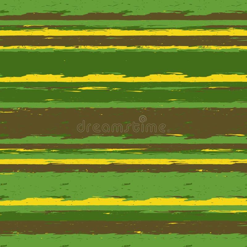 Rayas pintadas cepillo ilustración del vector