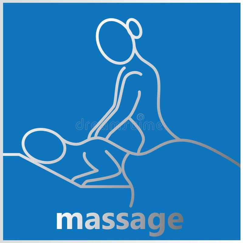 Rayas que relajan masaje ilustración del vector