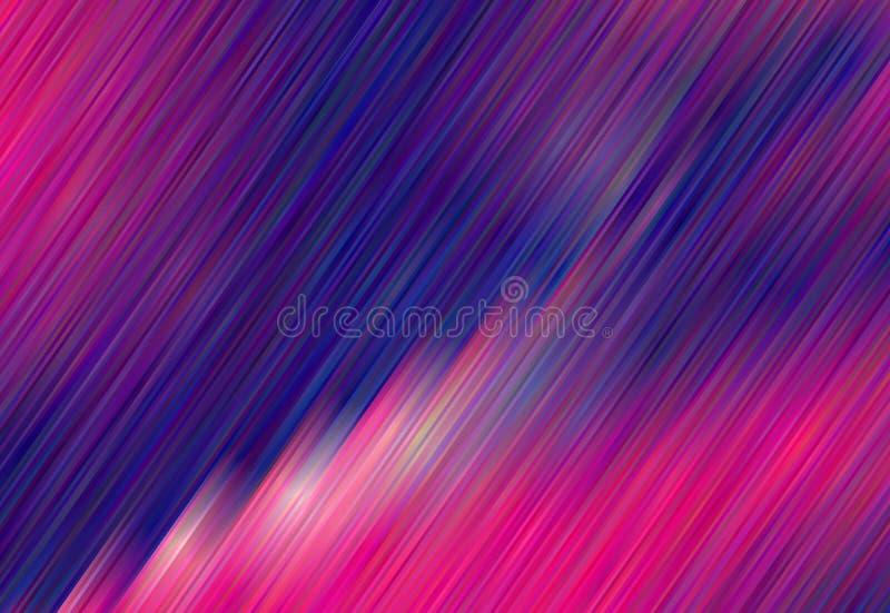rayas Rosado-violetas de la pendiente Fondo geométrico brillante Modelo rayado Ilustración del vector stock de ilustración