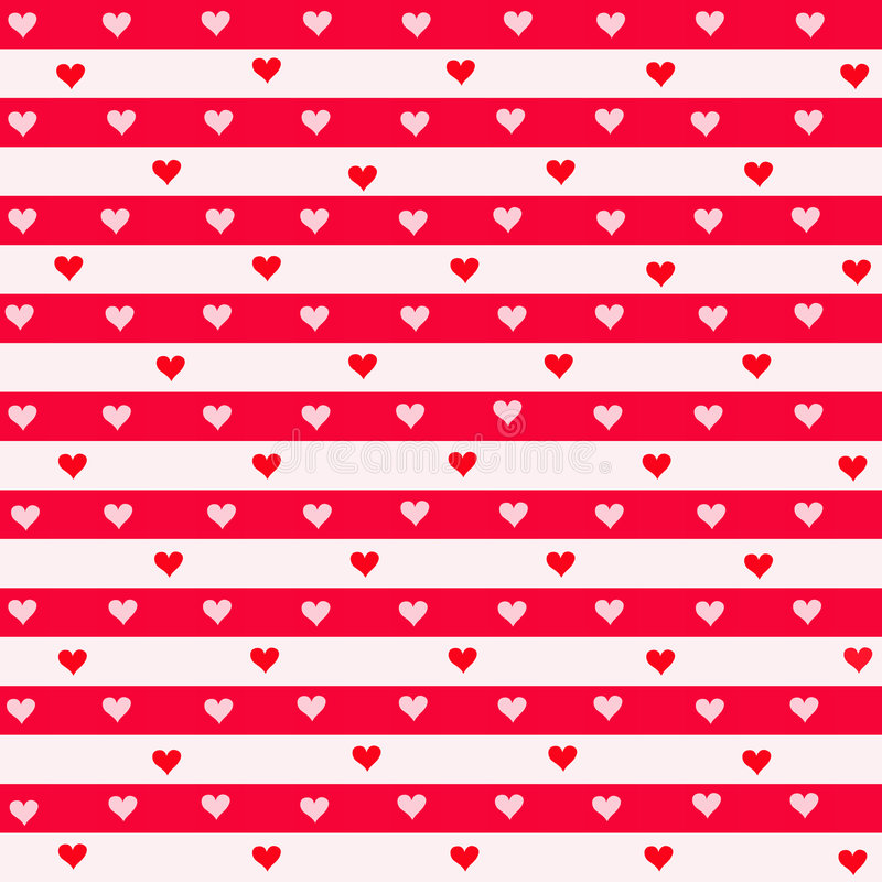 Rayas y corazones stock de ilustración