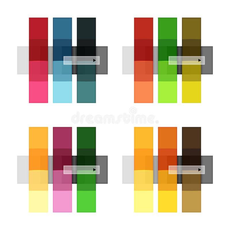 Rayas y líneas en blanco plantillas del vector del infographics libre illustration