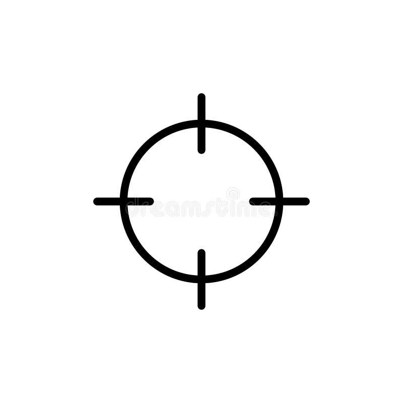 rayez la cible, icône de point sur le fond blanc illustration de vecteur