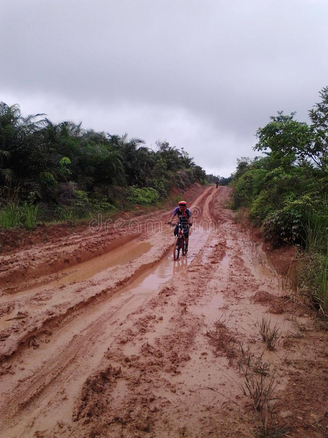 Rayez sur des cyclistes de RUSA BBC BANGKO JAMBI INDONEISA image stock