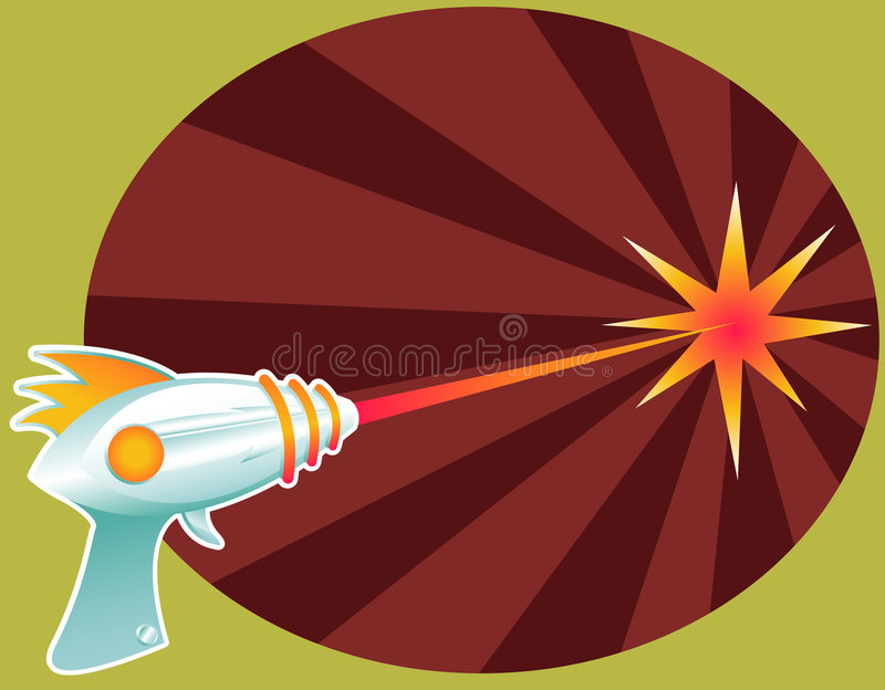 Download Rayguns are a Blast! stock vector. Illustration of obliterate - 1042944