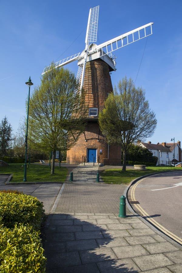 Rayleigh väderkvarn i Essex fotografering för bildbyråer
