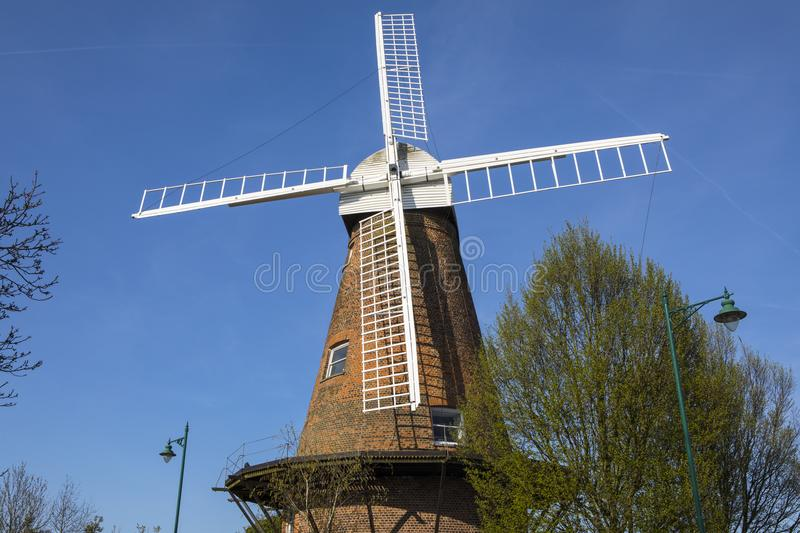 Rayleigh Windmill in Essex. A view of the historic Rayleigh Windmill, located in the market town of Rayleigh in Essex, UK stock photos
