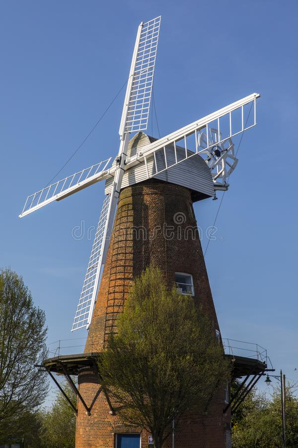 Rayleigh Windmill in Essex. A view of the historic Rayleigh Windmill, located in the market town of Rayleigh in Essex, UK stock image