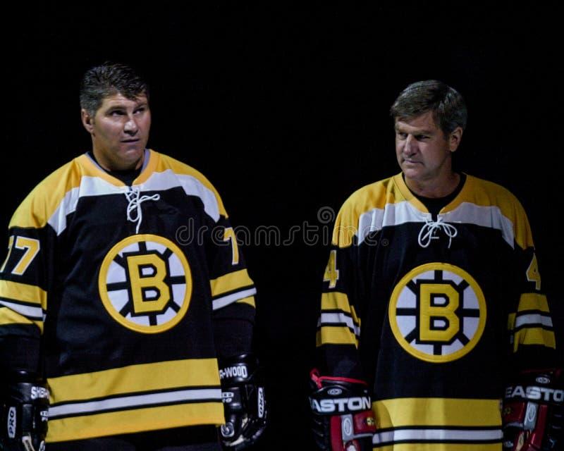 Raymond Bourque e Bobby Orr fotografia stock