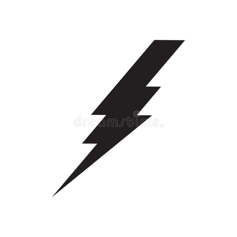 Rayo, icono del vector del poder de la electricidad stock de ilustración