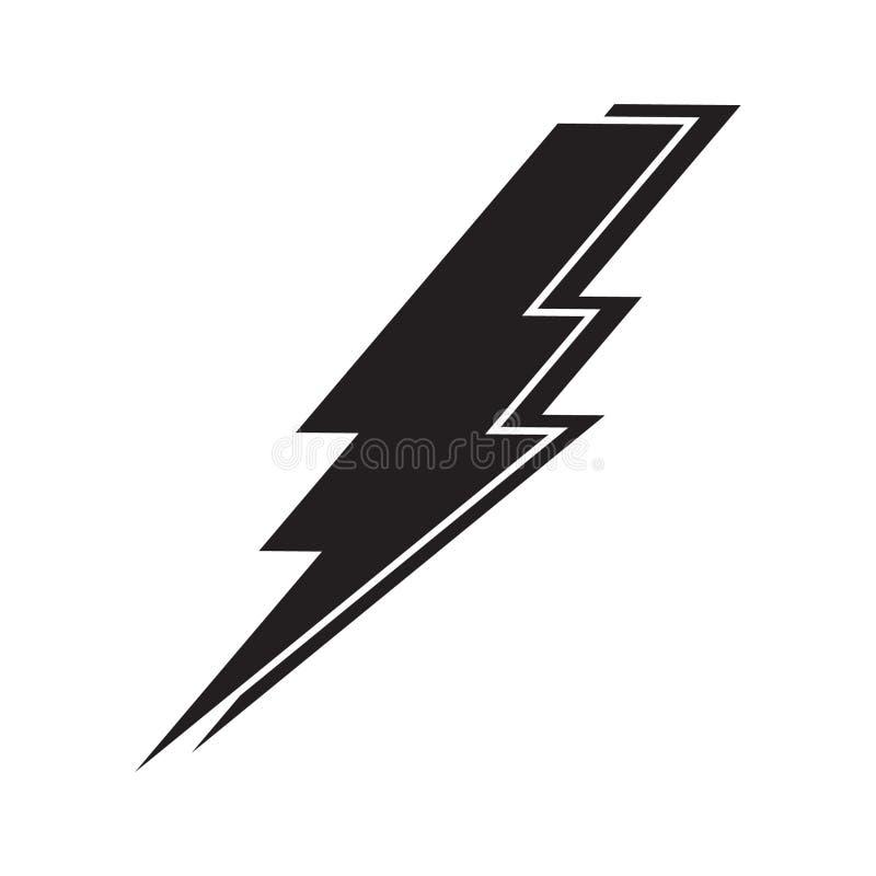 Rayo, icono del vector del poder de la electricidad libre illustration