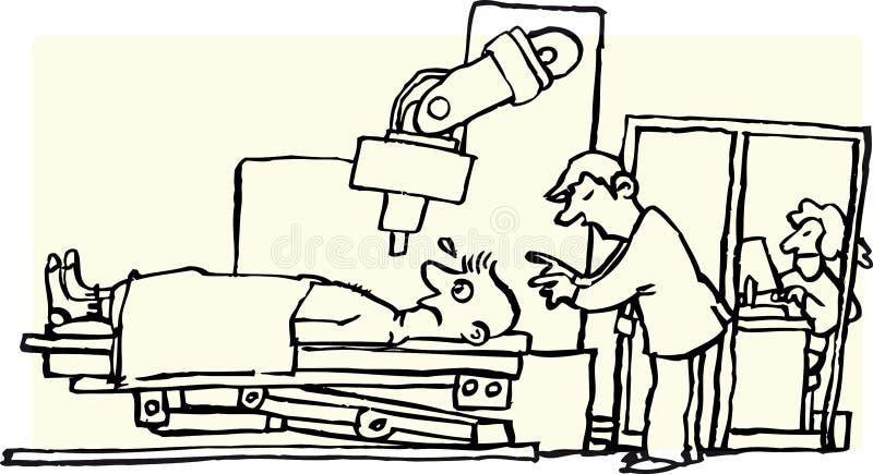 rayo x stock de ilustración