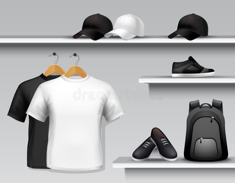 Rayon de magasin de vêtements de sport illustration libre de droits