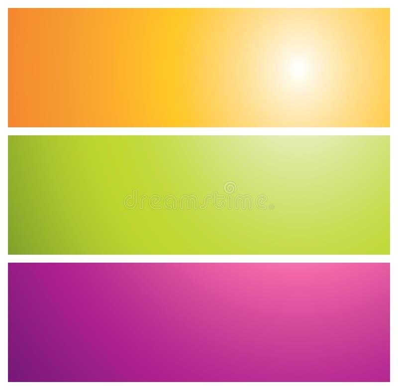rayon de soleil coloré de drapeaux illustration stock