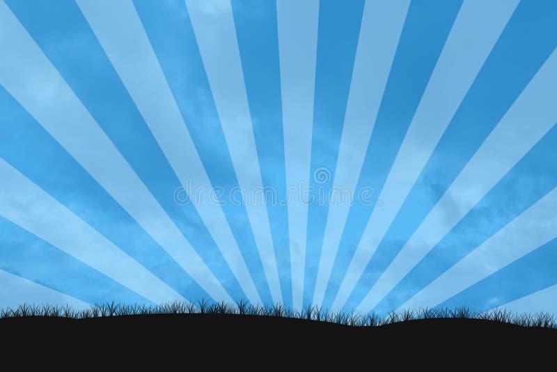 Rayon de soleil de ciel photos libres de droits