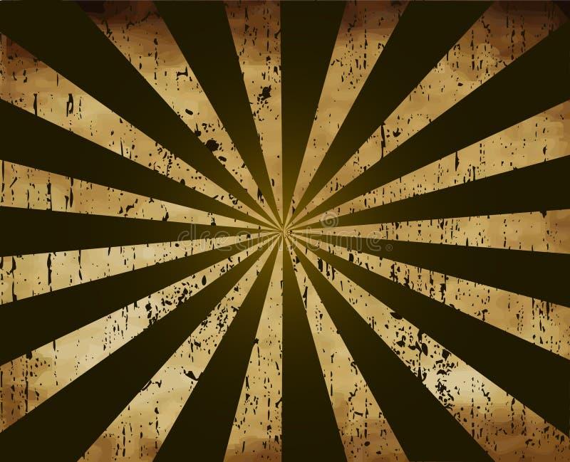 Rayon de soleil de cru - vecteur illustration libre de droits