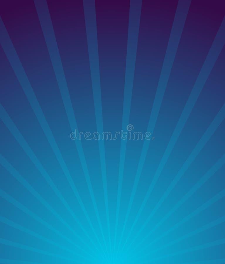 Rayon de soleil, fond de Starburst Convergent-rayonnant des lignes abstres illustration stock
