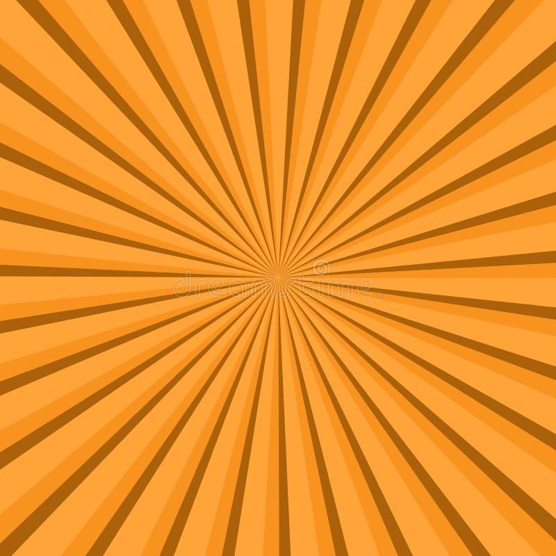 Rayon de soleil, fond de starburst, lignes convergentes Illustration de vecteur illustration de vecteur