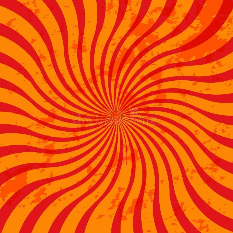 Rayon de soleil grunge orange illustration libre de droits