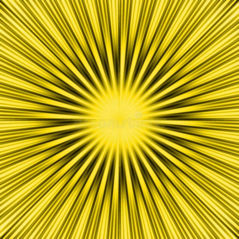 Rayon de soleil jaune illustration stock
