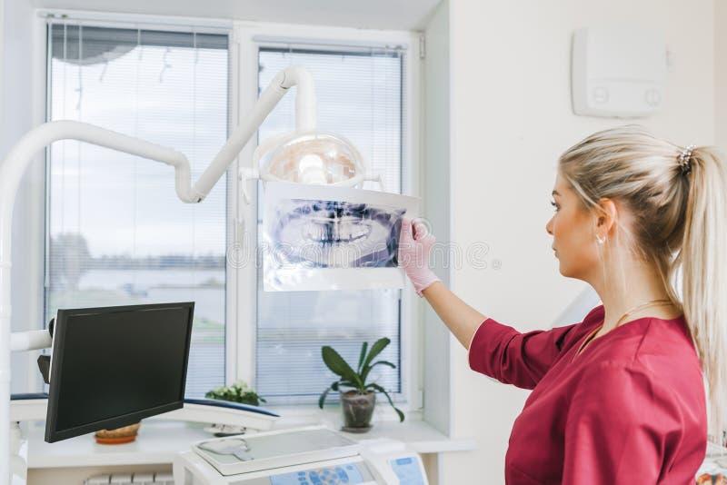 Rayon X dentaire panoramique ? disposition, bureau dentaire image stock