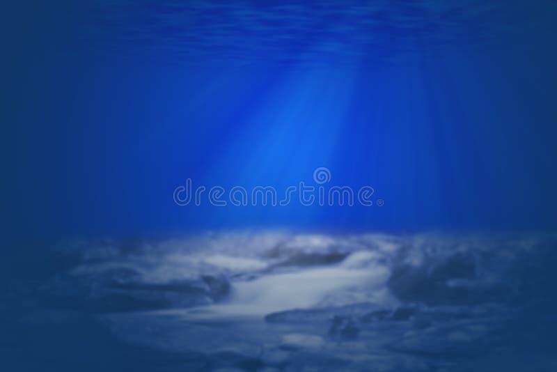 Rayon léger en nature de dessous de mer profonde photographie stock libre de droits