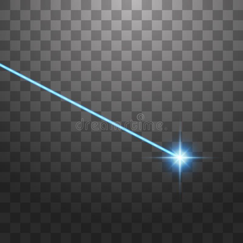 ? rayon laser bleu abstrait D'isolement sur le fond noir transparent Illustration de vecteur illustration libre de droits