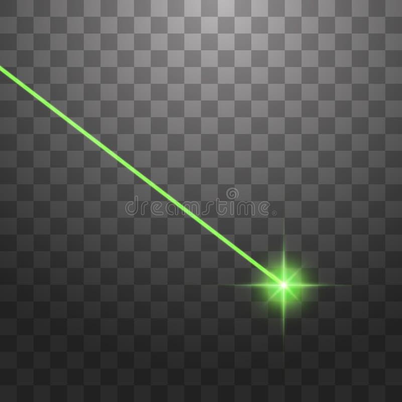 ? rayon laser vert abstrait D'isolement sur le fond noir transparent Illustration de vecteur illustration stock